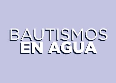 Bautismos en Agua